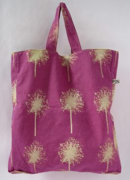 Plum Square tote bag