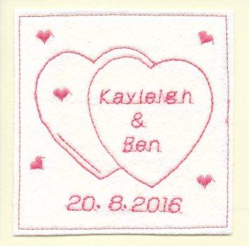 personalised handmade wedding card