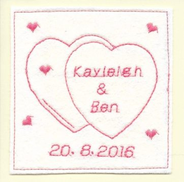 personalised handmade wedding card