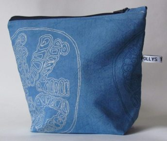 Blue wash-bag