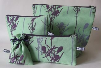 hand printed make up pouch
