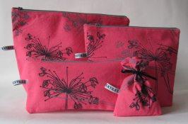 hot pink make up bag