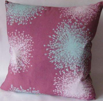 plum dyed linen cushions