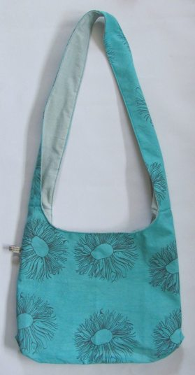 turquoise long handled bag