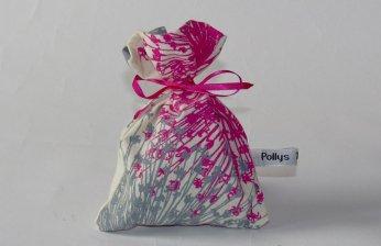 Lavender bag in hot pink & pale grey Starburst design