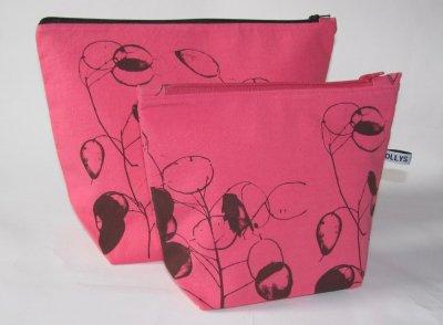 handmade pink wash-bags