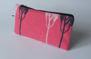 pink handmade pencil cases