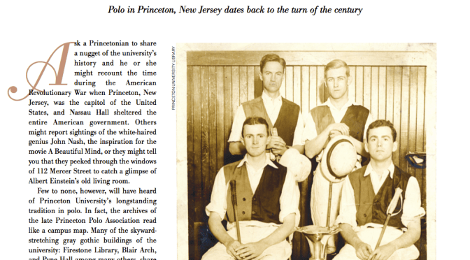 Memory Lane| Polo Players Magazine