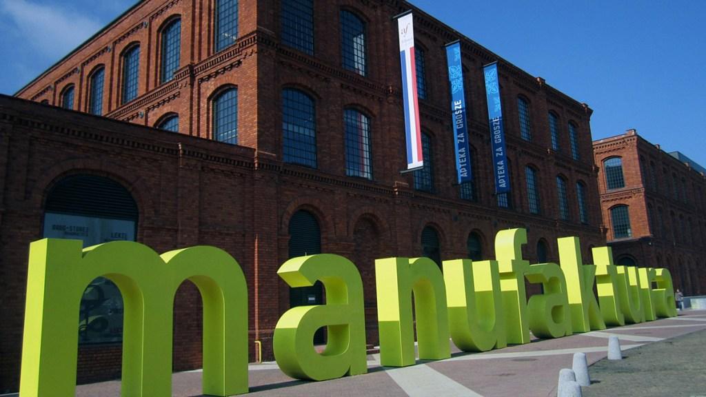 Łódź - le centre commercial Manufaktura