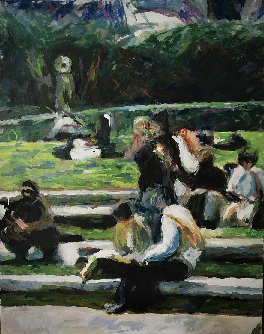 """""""Pariški park"""", 100x80 cm"""