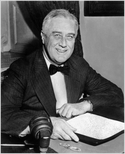 US President Franklin Delano Roosvelt c. 1930 at t