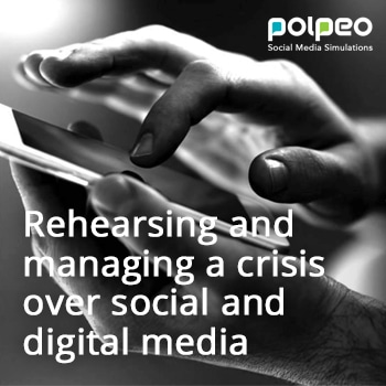 Rehearsing and managing a crisis over social and digital media