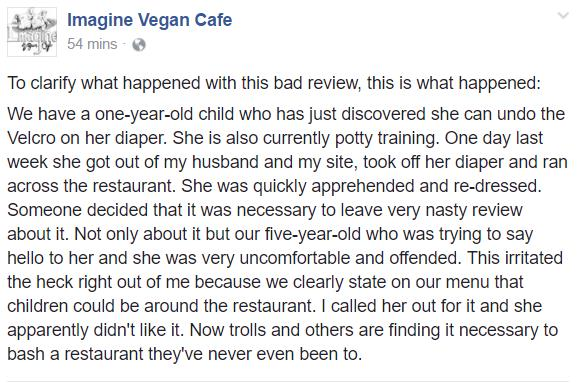 Vegan Cafe - Negative reviews - response 2