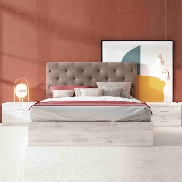Dormitorio moderno tapizado Smoke