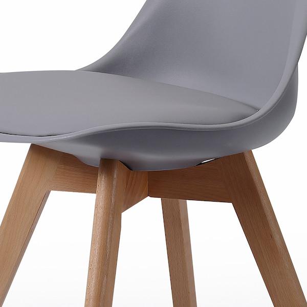 silla de comedor tapizada acolchada muebles polque
