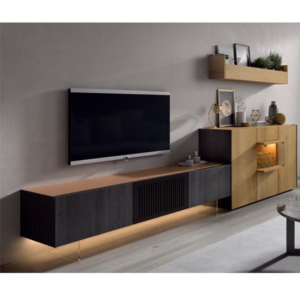 salon mueble tv piero muebles polque