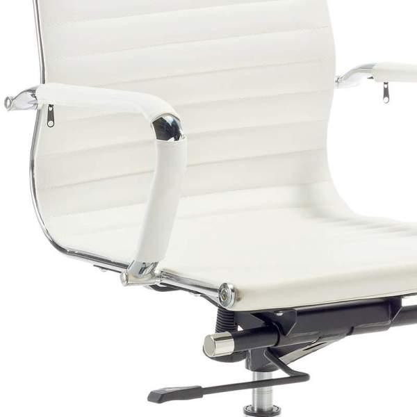 Detalle Silla de oficina N56 alta en blanco de muebles polque