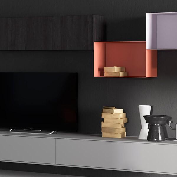 Detalle Mueble TV Avola de Muebles Polque