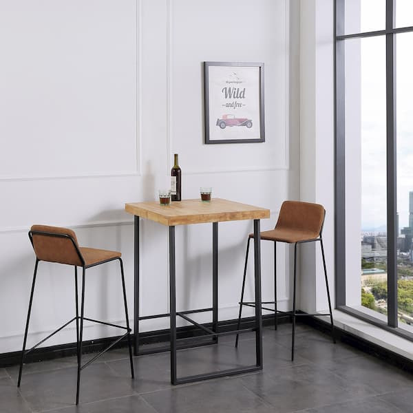 mesa alta cuadrada estilo industrial muebles polque