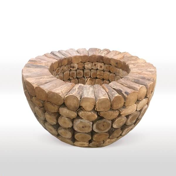 Macetero decorativo Troncos Unique Muebles Polque