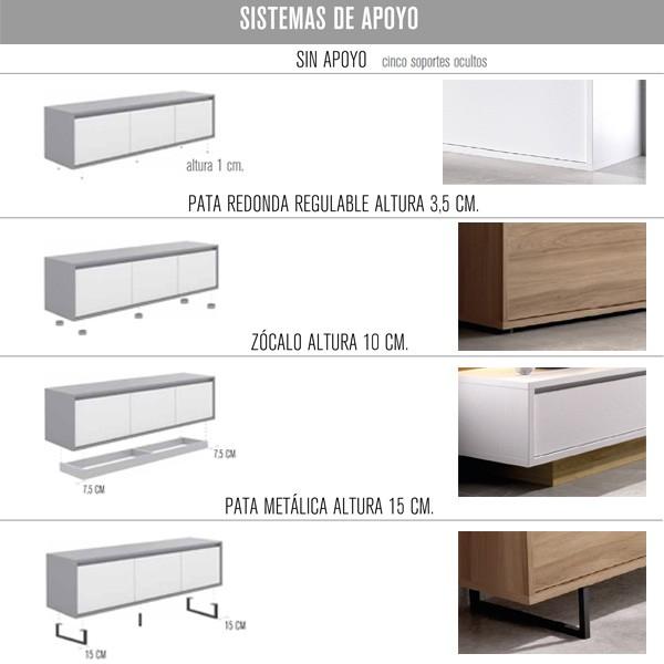 Sistemas al suelo salones Muebles Polque