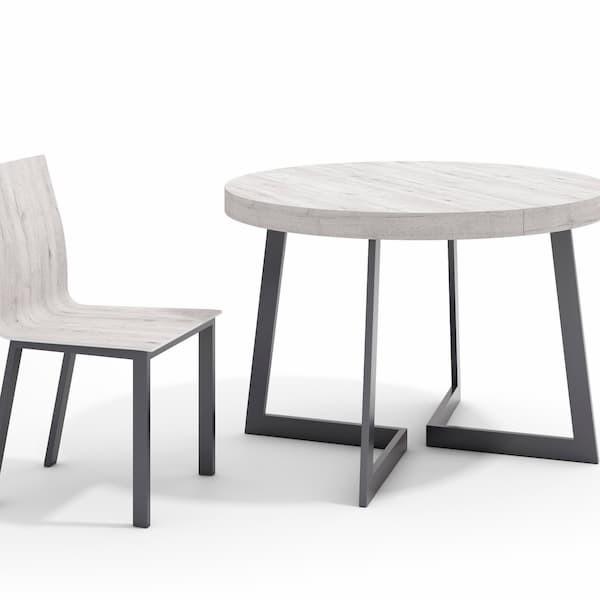 Mesa de Comedor redonda extensible muebles polque