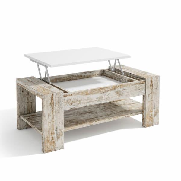 Mesa de centro elevable madera muebles pamplona