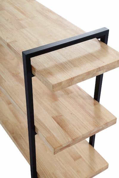 estantería alta roble sueco urban industrial muebles polque