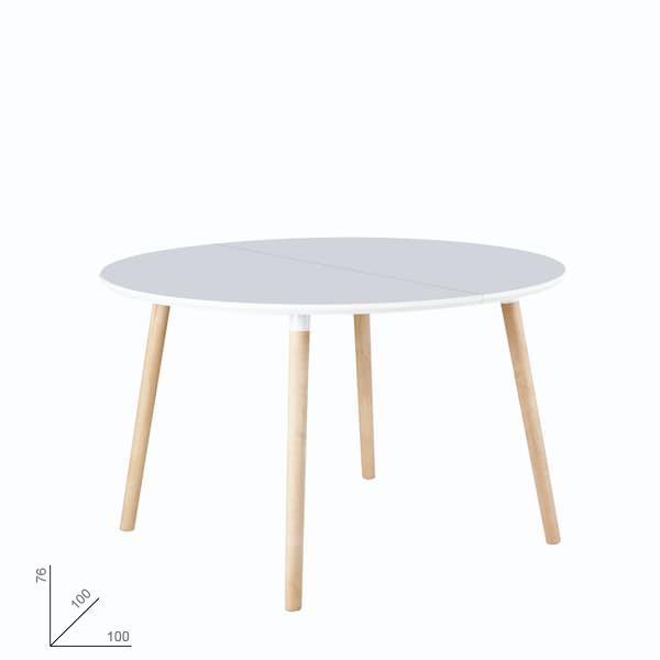 mesa redonda extensible muebles polque