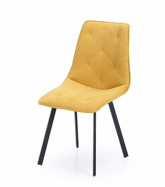 silla tapizada amarilla muebles polque