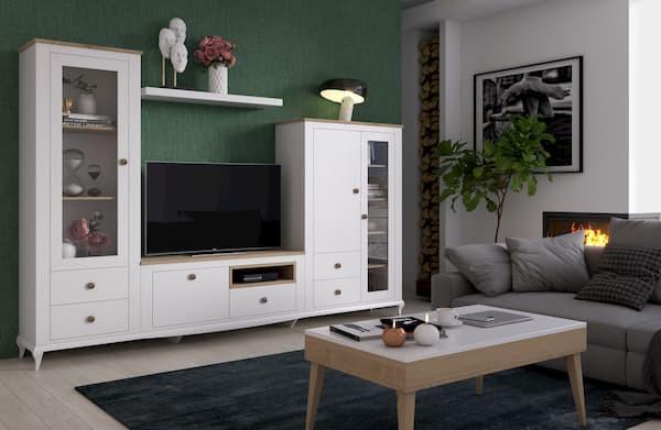 Mueble salón blanco Augusto