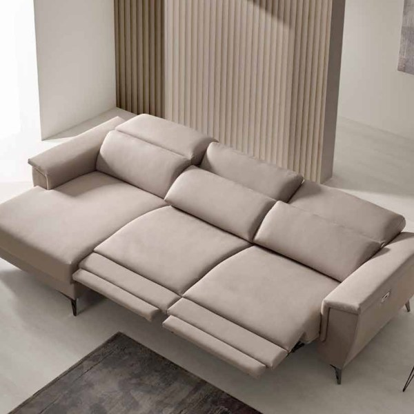sofá relax eléctrico cheslong muebles polque
