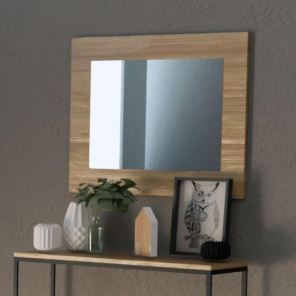 espejo madera artesana muebles polque