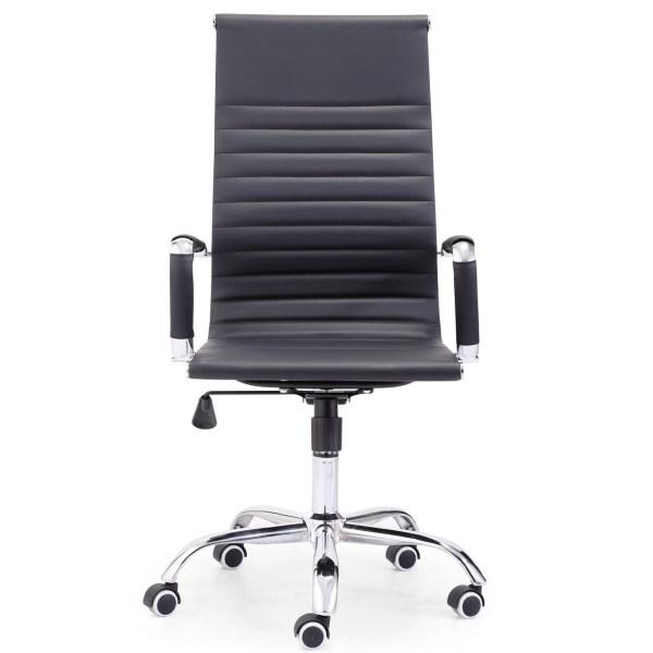 Silla escritorio alta Rovic negra