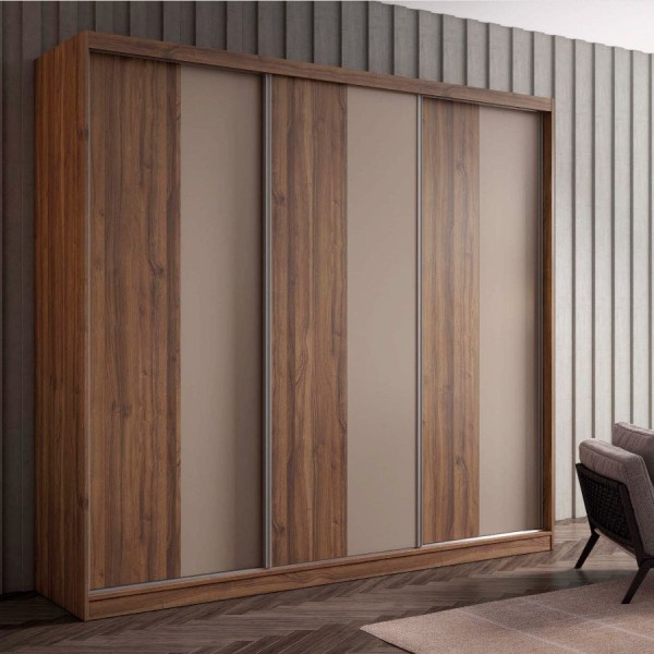 armario puertas correderas Nogal