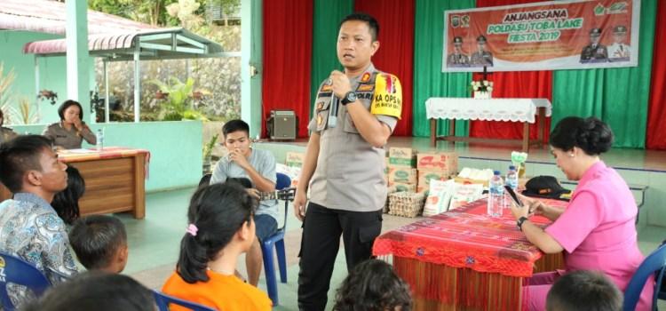 Kapolres Simalungun AKBP Heribertus Ompusunggu, S.I.K.,M.Si., Berbagi Sukacita Bersama Keluarga Panti Asuhan Zarfat HKI Tiga Balata
