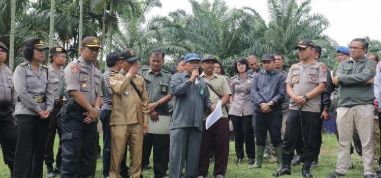 Kapolres Simalungun AKBP Heribertus Ompusunggu, S.I.K.,M.Si., Turun Langsung Pengamanan Perkara Lahan
