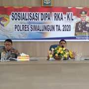Wakapolres Simalungun Pimpin Sosialisasi RKA-K/L Polres Simalungun Tahun 2020