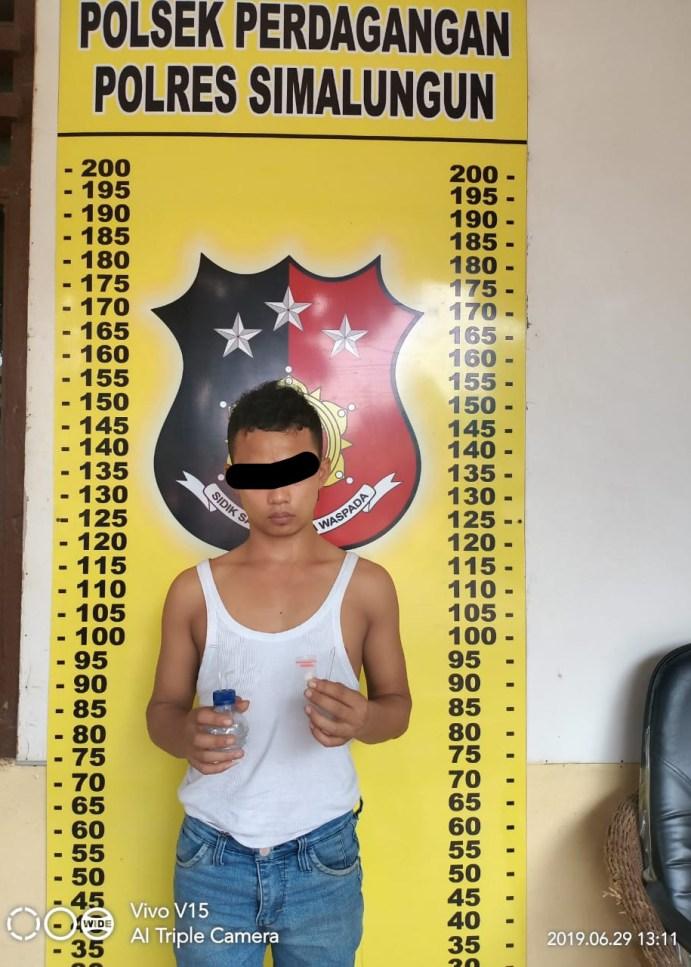 Polsek Perdagangan Ungkap Pelaku Penyalahgunaan Narkotika Sabu.