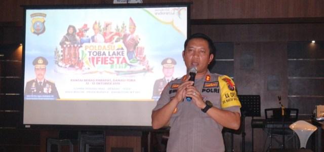 Kapolres Simalungun AKBP Heribertus Ompusunggu, S.I.K., M.Si Pimpin Rapat dengan BPC PHRI Kabupaten Simalungun dalam rangka pelaksanaan POLDASU TOBA LAKE FIESTA 2019.