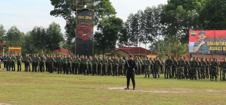 KAPOLRES SIMALUNGUN AKBP M. LIBERTY PANJAITAN, S.IK.,MH. HADIRI UPACARA 17-AN BERSAMA TNI/POLRI DI MARKAS BRIMOB SUBDEN 2B P. SIANTAR