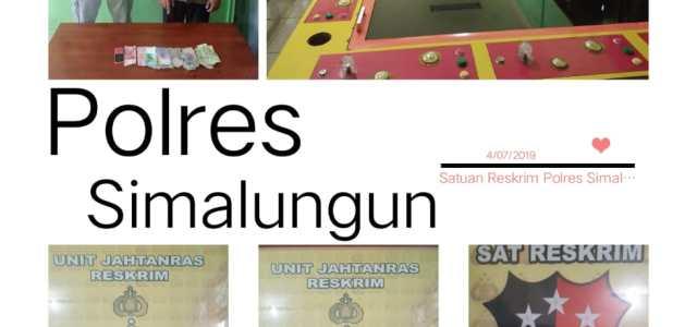 Satuan Reserse Kriminal Polres Simalungun Gencar Berantas Segala Bentuk Perjudian