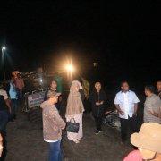 Kapolres Simalungun Berada Di Lokasi Meninjau Kerusakan akibat Longsor di daerah Tanah Jawa.