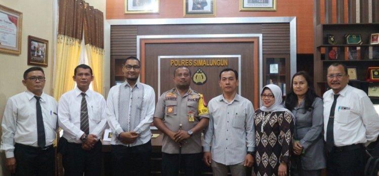 Audiensi, Ketua Komisioner KPU Kab. Simalungun Berkunjung ke Polres Simalungun