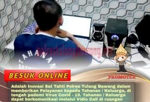 pelaksanaan besuk online Polres Tulang Bawang