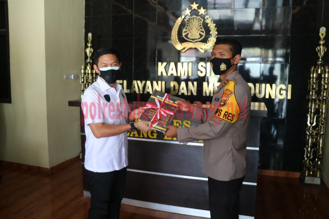 Kapolres Tulang Bawang AKBP Andy Siswantoro, SIK saat menerima kedatangan Tim dari STIK/PTIK