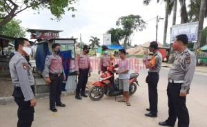 Warga yang terjaring Operasi Yustisi di Jalan Ethanol, Kampung Tunggal Warga