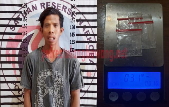 Petani berinisial ID (23), warga Dusun Cakat Raya, Kampung Menggala, Kecamatan Menggala Timur yang ditangkap Polres Tulang Bawang karena menyalahgunakan narkotika jenis sabu