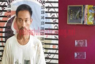 Pemuda berinisial RH (23), yang ditangkap Satresnarkoba Polres Tulang Bawang saat menggerbek sebuah bedeng di Dusun Kagungan Dalem, Kampung Bujung Tenuk
