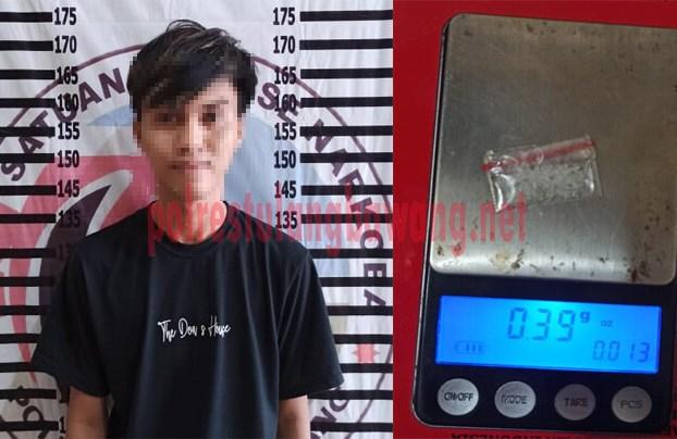 Oknum mahasiswa berinisial JP (20), yang kedapatan membawa narkotika jenis sabu ke Islamic Center Menggala